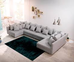 Delife Wohnlandschaft Clovis Xl Grau Flachgewebe Modulsofa Design Wohnlandschaften Couch Loft Modulsofa Modular