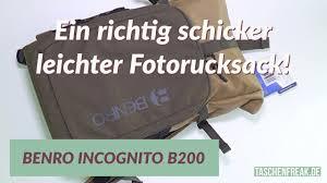 <b>Benro</b> Incognito B200 - ein schicker leichter Fotorucksack - YouTube