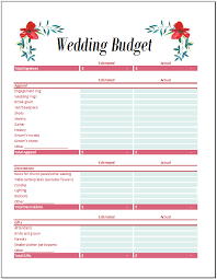 free wedding budget worksheet 7 free wedding budget templates in ms excel microsoft office templates