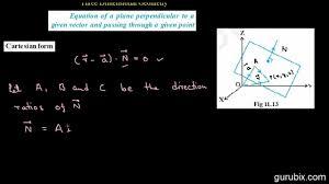 perpendicular planes equation. hindi : equation of a plane perpendicular to vector...(cartesian form) - ch 11 cbse 12th math planes i