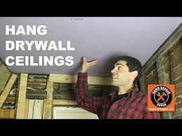 hang drywall on ceiling by yourself