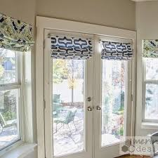 roman blinds on french doors. Unique Roman Just Like Windows Doors With Views To The Outside World Need Be  Dressed But They Can Tricky Because  Whether Theyu0027re Sliding Or French  And Roman Blinds On Doors Pinterest