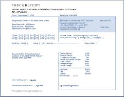Truck Receipt Template Free Receipt Templates