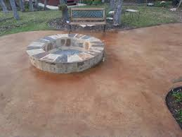 concrete patio designs with fire pit. Stained Concrete Patio Design With Fire Pit Table Ideas And Chair Designs