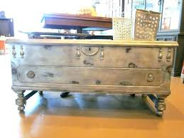vintage trunk coffee table treasure chest trunks how to make an old into a hancock with