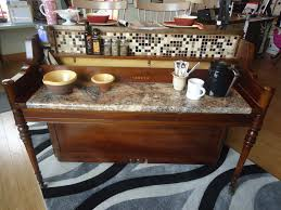 Repurposed Kitchen Island Repurposed Breakfast Bar Kitchen Island With High Back Bar Stools