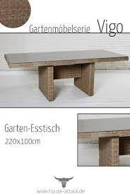 Lc Garden Gartentisch 220 X 100 Cm Vigo Dining Natur In 2019