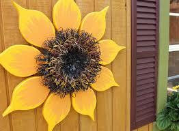 outdoor wall art sunflower wall decor modern farmhouse inside sunflower wall art gallery 4 of