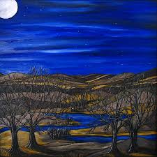 moonlight painting moonlit night by kerry bennett