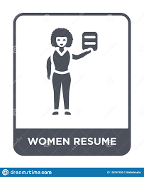 Modern Resume Icon Women Resume Icon In Trendy Design Style Women Resume Icon Isolated