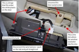 diy door inner handle lock cable repair 2001 ls430 03 window