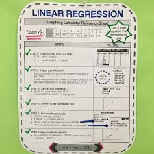 graphing calculator reference sheet linear regression