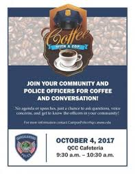Coffee With A Cop Flyer Talk To Qcc Campus Police At Upcoming Coffee With A Cop