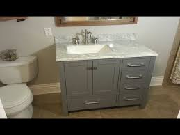 how to replace a bathroom vanity the