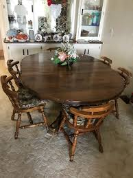 just refurbished 1960 s dining table and chairs has 2 leafs to make table longer 200 furniture in santee ca offerup