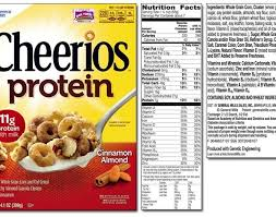 cheerios list perning to cheerios nutrition label
