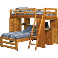 Twin L-Shaped Bunk Bed