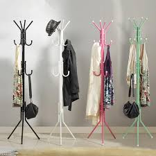 Stylish Coat Rack Custom Stylish 32 Fashion Hat Bag Hang Coat Rack Metal Tripod Stand Coat