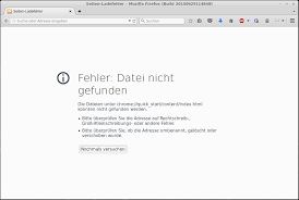 Firefox-Fehlermeldung chrome://quick_start/content/index.html | ionas