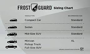 Frost Guard Windshield Cover Size Chart Nfl Frostguard Most Teams Available Winter Snow Ice And