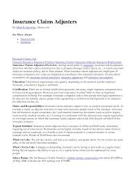 Catastrophe Claims Adjuster Sample Resume Claims Adjuster Resumes Madrat Co Shalomhouseus 6