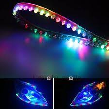 ford f53 headlights 2x audi style led strip ribbon diode tube rope light for car headlights colorful fits ford f53