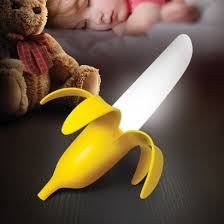 An unusual night light with a fruity feel for your little monkey's room,  the Banana Night Light gives a warm white glow at night. Read more.