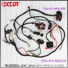 gy6 125cc 150cc electrics stator wire wiring harness loom magneto ignition coil cdi rectifier solenoid scooter atv in motorbike ingition from automobiles