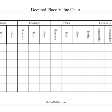 Printable Place Value Chart Pdf Decimal Place Value Chart Printable Decimal Place Value