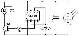 the remarkable css555 nuts volts magazine for the the supply voltage to the circuit varies as the storage capacitor cs charge from a solar cell or discharge through the load when the output pin goes high