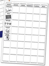 Classroom Assignment Chart Kurtz Bros Weekly Assignment Chart Tablet