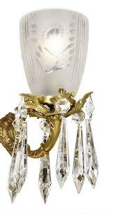 vintage crystal chandelier large ballroom prism ceiling light fixture ant 846 for
