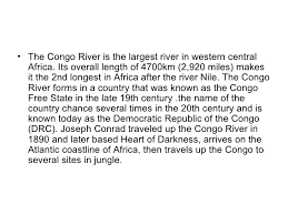 significance of congo river in the heart of darkness heart of darkness the significance of congo river 3