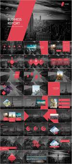 Red Black Business Report Powerpoint Template Pcslide Com