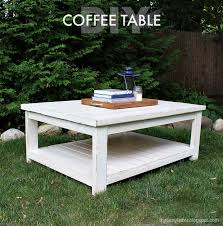build a large simple coffee table using off the shelf lumber and my free plans here basic construction techniques and easy to follow steps