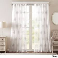 ay massa embroidered sheer window panel 50x95 blue blue size 50