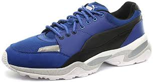 Amazon Com Puma Alexander Mcqueen Tech Runner Lo Blue Mens