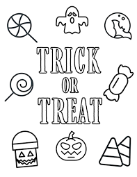 Kiddos can use their own colored pencils and. Free Printable Halloween Coloring Pages Paper Trail Design