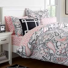 ana paisley duvet cover pbteen in black and pink inspirations 19
