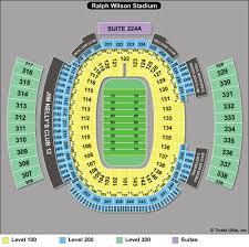 Ralph Wilson Stadium Seating Plan