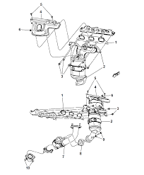 2010 dodge journey exhaust manifold turbo charger assembly heat shield diagram i2249524