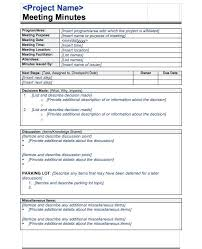 Minutes Template Microsoft Word Meeting Notes Template Microsoft Word