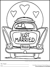 Fortune Wedding Coloring Pages Free Book To Print New Printable Fair