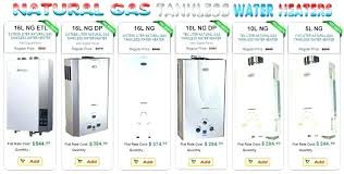 Water Heater Sizes