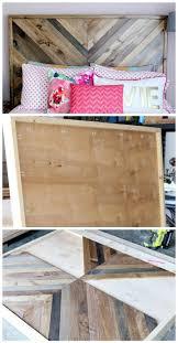 chevron wooden headboard diy