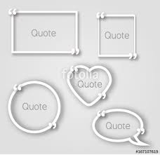 Paper Frames Templates White Quote Bubble Paper Frames In Realistic Style