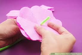 Make A Paper Poppy Flower How To Make Tissue Paper Poppies 9 Steps With Pictures