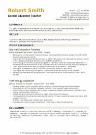 Resume Education Examples Special Education Teacher Resume Samples Qwikresume