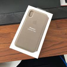 original apple iphone x leather folio case taupe mobile phones tablets mobile tablet accessories cases sleeves on carou