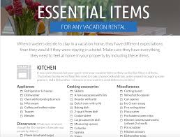 checklists for your vacation home